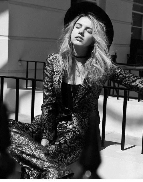 Hannah Murray photographed by Gael Delhaye for No Cigar magazine.