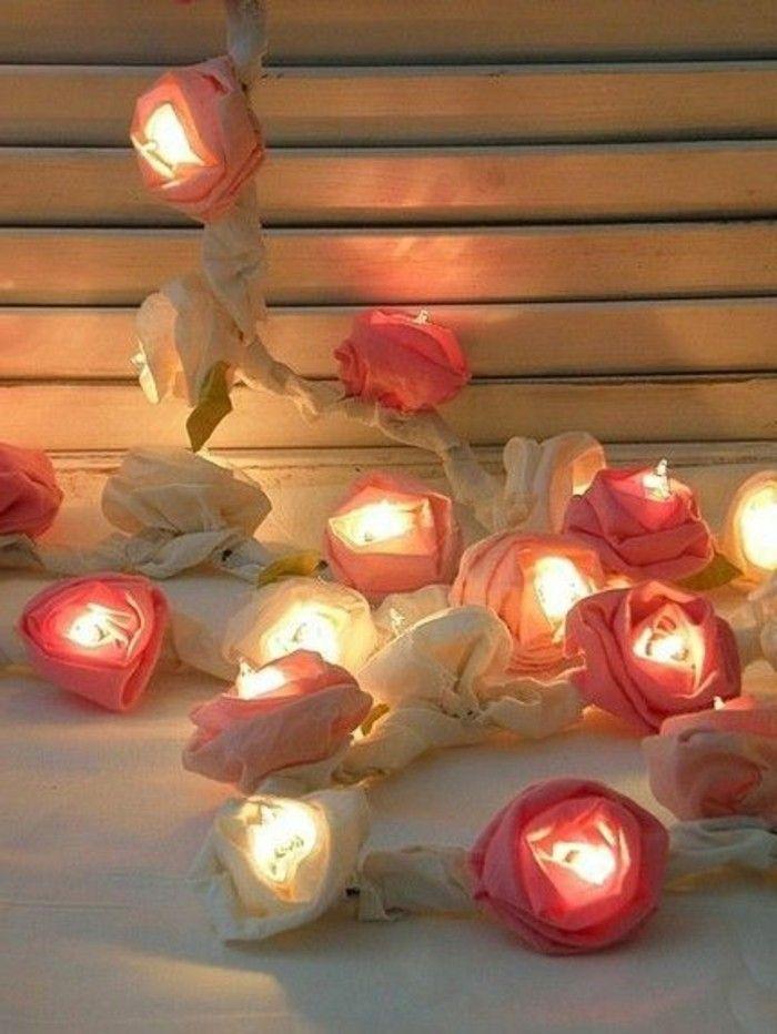 jolie decoration avec guirlande lumineuse ikea