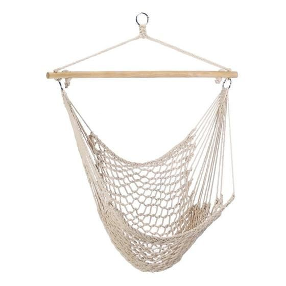[product_tag] , White Outdoor Lounge Chair Hammock - Crosslinks