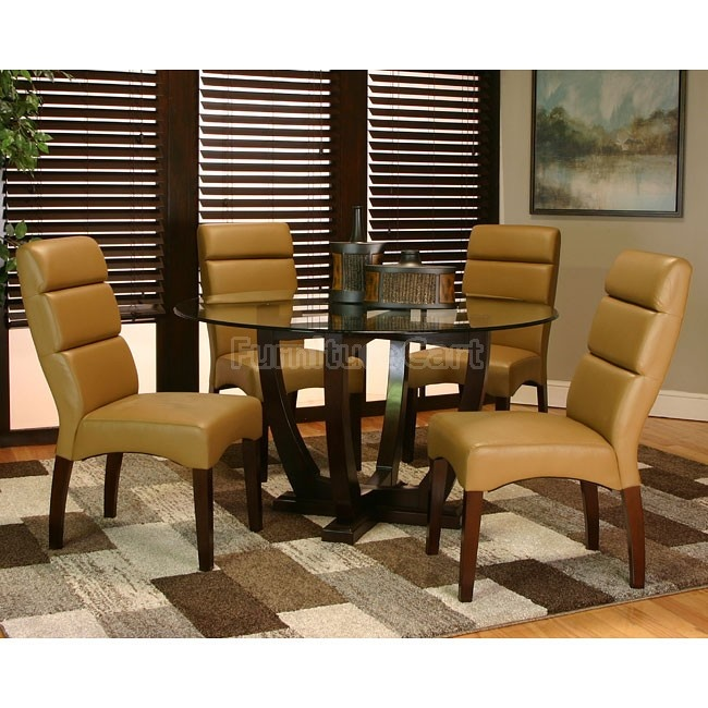 Adele Dining Room Set W Caramel Chairs Inspired Dining