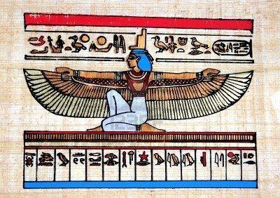 Papiro egiziano (dea Iside) Archivio Fotografico - 2356411