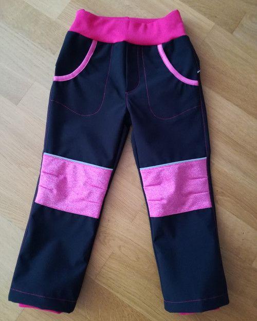 Střih na softshellové kalhoty vel.86-116