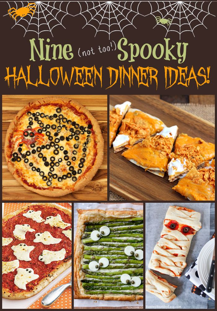 We're getting excited about Halloween coming up next Friday, and I've found nine cute Halloween dinner ideas to share with you today.