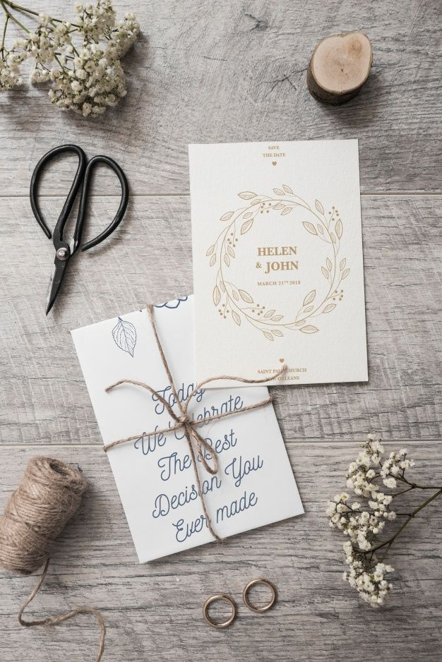 Save The Date Card Mockup Psd File Free Download