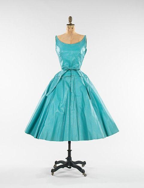 Cocktail dress Designer: Bonnie Cashin  (American, Oakland, California 1908–2000 New York) Date: 1953 Culture: American Medium: leather