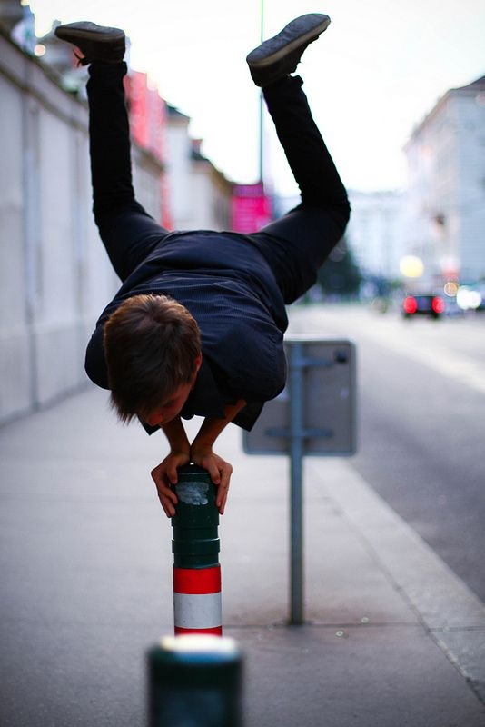 parkour. @Olivia García Gallagher we can learn to do this easy!