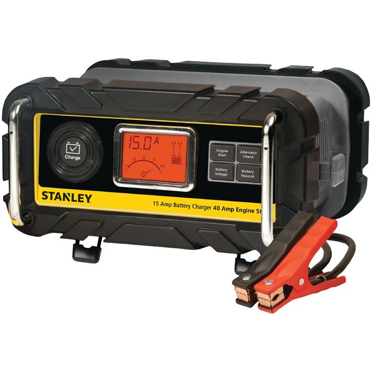Stanley Battery Charger And Maintainer With Engine Start (15-amp Charger 40-amp Starter)