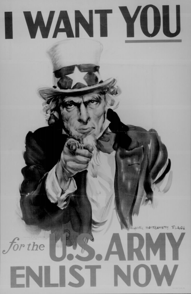 """""""I Want You for the U.S. Army. Enlist Now."""" Color poster by James Montgomery Flagg. 44-PA-71."""