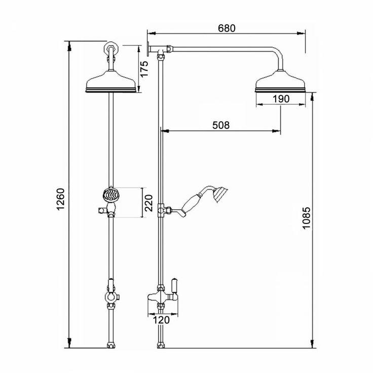 Thermostatisches Dual-Duschsystem traditionelles Design - Topaz I ...
