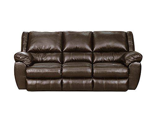Simmons Upholstery 50433pbr 53 Bingo Motion Sofa Brown