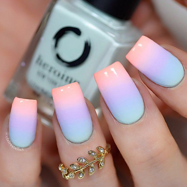 Neon colors emphasize tanned skin and stand nicely on any length of nail.