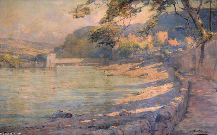 Une vue de Conway pont et le château de Robert Fowler (1853-1926, United Kingdom)