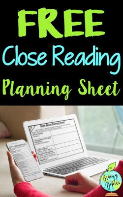 Blog post with tips on how to plan close reads, setting a purpose, text selection, and question formulation. PLUS a free close reading planning sheet