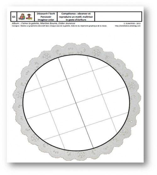 J'aime la galette, M. Bourre - GS, reproduire un motif graphique Estelledocs