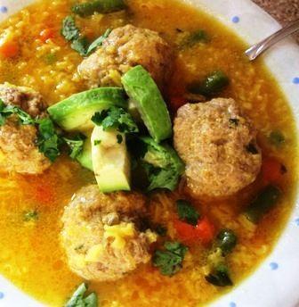 Great Meatball and Rice Soup (Sopa de Arroz con Albóndigas)   My Colombian Recipe..., ,