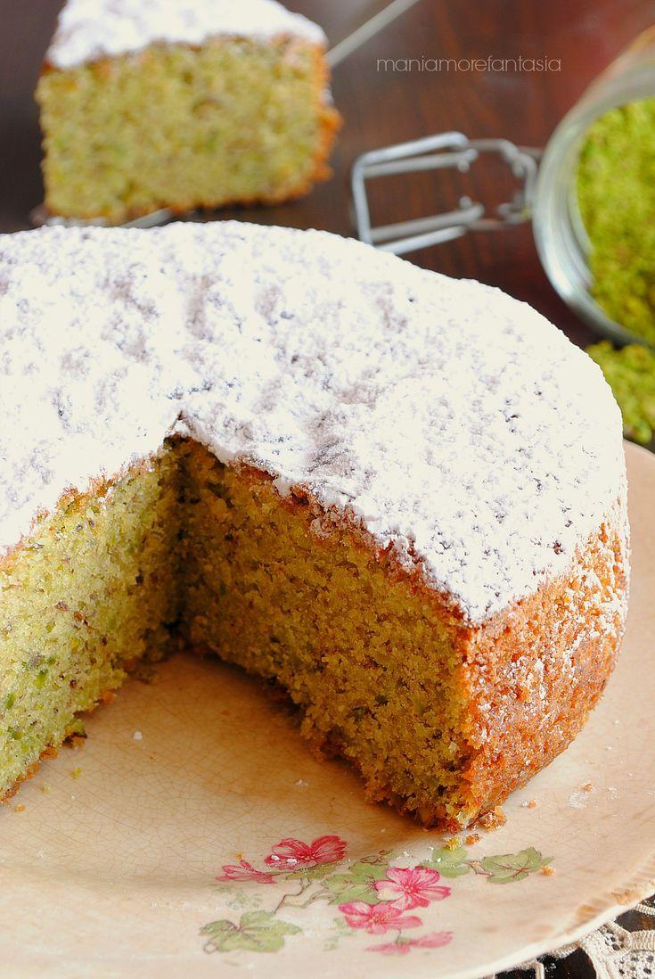 sponge cake al pistacchio, torta al pistacchio