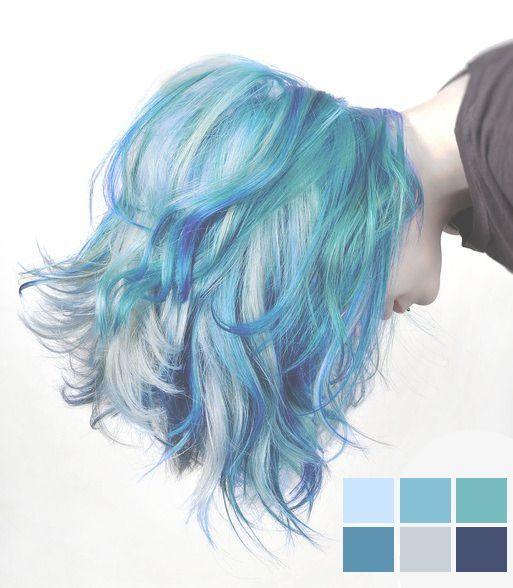 Mermaid Hair Color for Short Hair