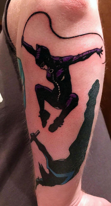 Catwoman by Rin Liu @ Hibernia Tattoo Sydney Nightwing by Sanot @ All-Day Tattoo Bangkok. Originals by Jock