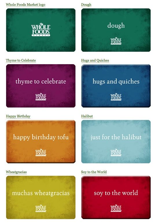 whole foods gift cards | humor | Whole foods gift card, Food gift cards, Whole food recipes