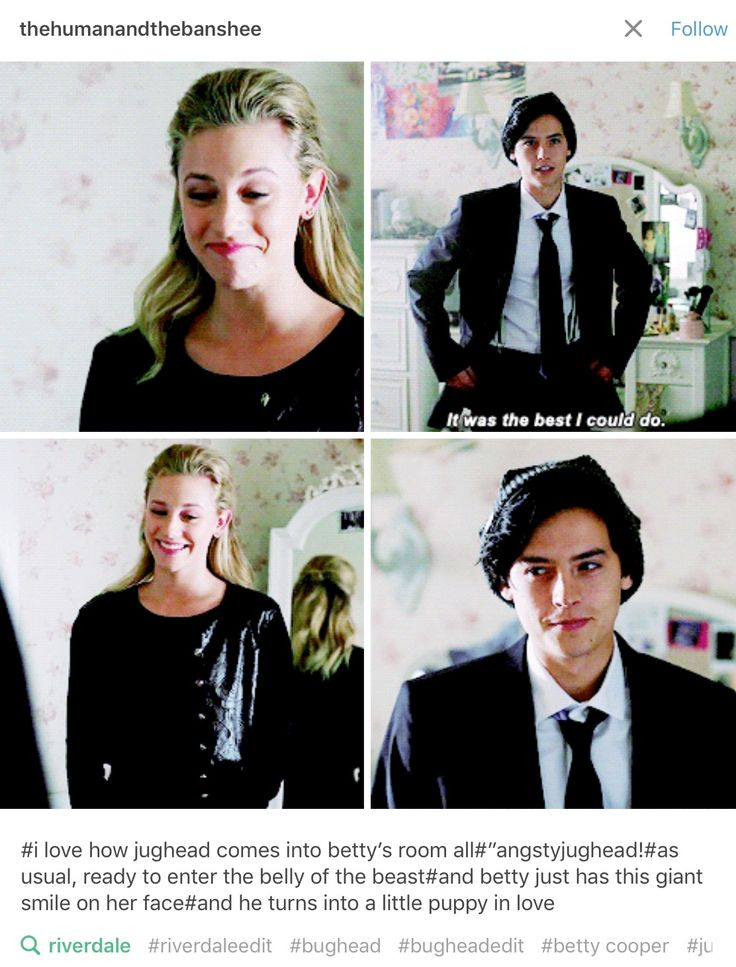 Riverdale bughead. Omg I love that pist especially the comment