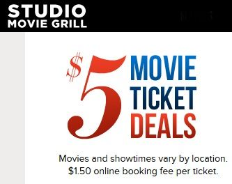 Studio Movie Grill $5 Movies | Houston on the Cheap