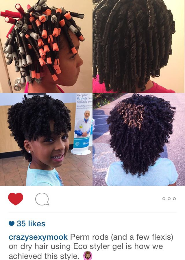 Curly hairstyle for kids