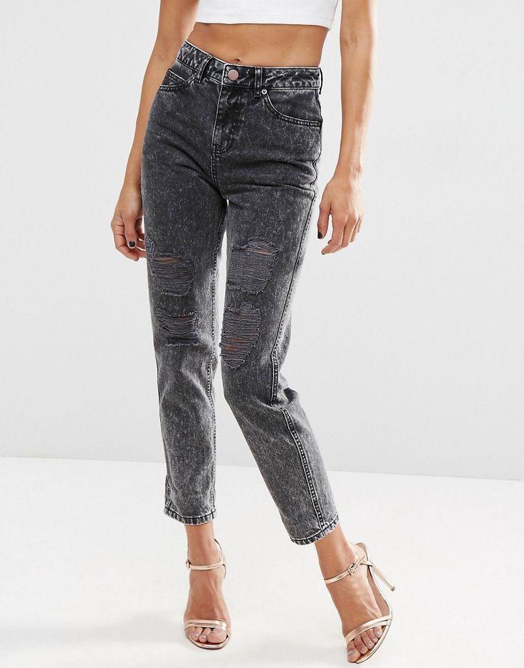 Изображение 3 из Черные мраморные джинсы в винтажном стиле ASOS ORIGINAL