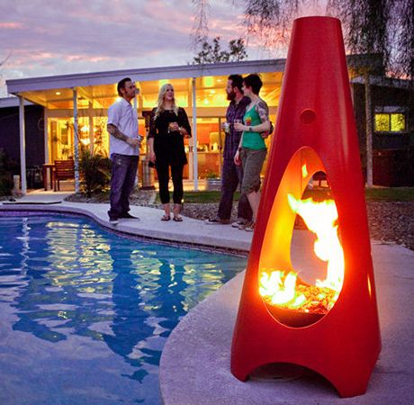 A Modern Take On The Outdoor Fireplace, The Unique Volcano Shaped ModFire  Showcases The Design Inspirations