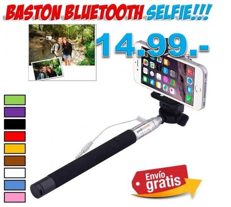 #accesorios #moviles #Smartphone #selfies #bastones #yougamebay #ofertas #descuentos Comprar baston de aluminio extensible para hacer auto fotos Selfies a distancia. http://www.yougamebay.com/es/product/baston-extensible-para-hacer-fotos-selfie