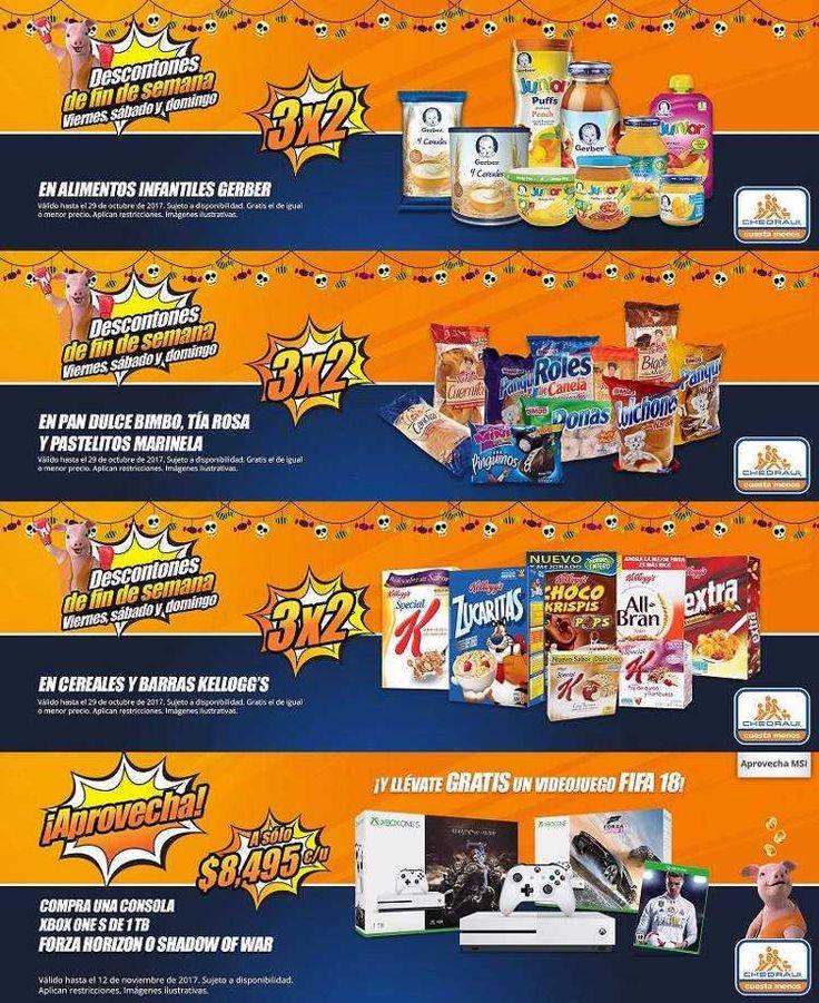 Chedraui tiene para este Fin de Semana varias ofertas y promociones del 27 al 29 de Octubre 2017: 3x2 en Pan dulce Bimbo, Tía Rosa y pastelitos Marinela.