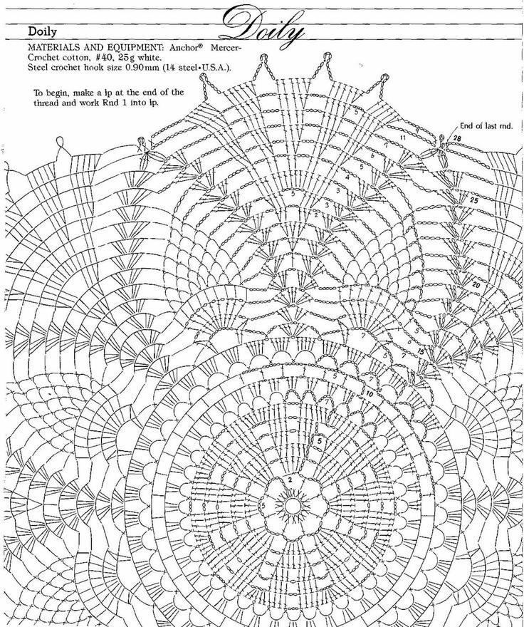 Table Runner Filet Crochet Diagrams