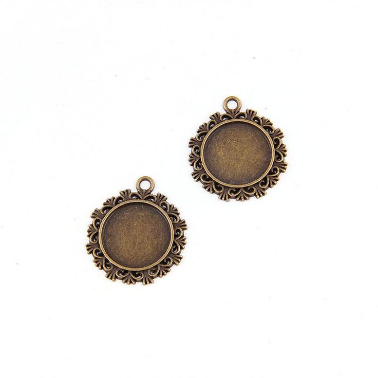 Cheap jewelry findings & components, Buy Quality antique necklace directly from China findings jewelry Suppliers: 5pcs 20*20mm Antique Plated Round Necklace Pendant Setting Cabochon Cameo Base Tray Bezel Blank Jewelry Findings&components