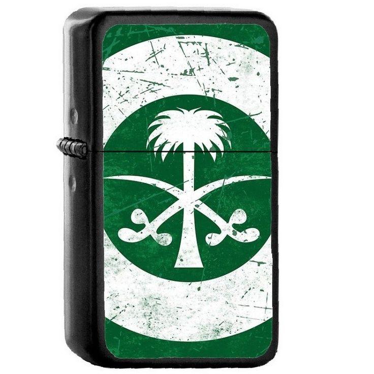Saudi Arabia Country National Emblem Flag Oil Flip Top
