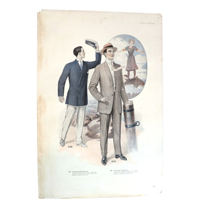 Antique J.L. TAYLOR & CO 1912 Oversized illustrated swatch card