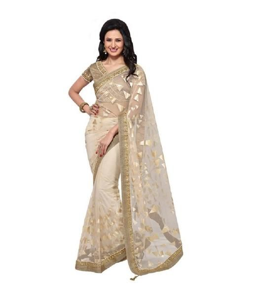 Beige Color Net Saree Designed With Golden Embroidery & Lace Border Work https://ladyindia.com/collections/net-sarees/products/beige-color-net-saree-designed-with-golden-embroidery-lace-border-work #saree #netsaree #embroideredsaree #designersaree