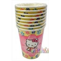 """Hello Kitty """"Pastel"""" Paper Cups  http://hardtofindpartysupplies.com/Hello-Kitty-Birthday-Party-Supplies/Hello-Kitty-Pastel-Paper-Cups"""