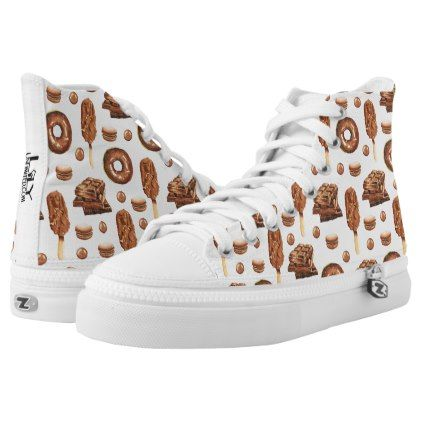 #High Top Sneakers - Chocolate - #womens #shoes #womensshoes #custom #cool