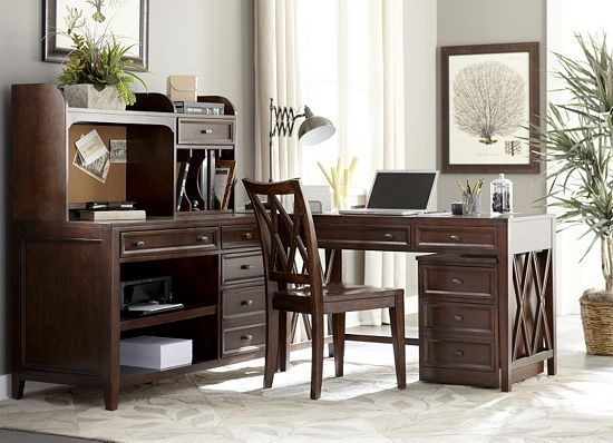 Design Your Dream Office With This Multi Functional #havertys Yorkston Desk.