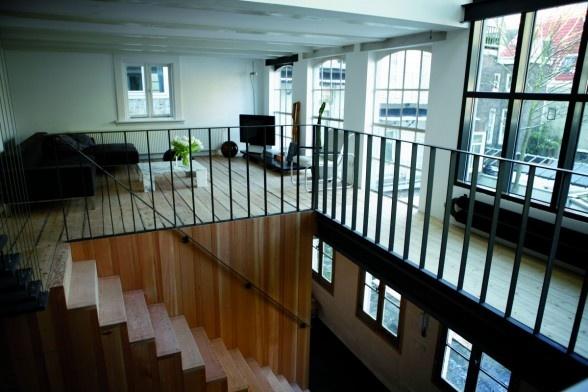 Modern interior of a Dutch house at Prinsengracht, Amsterdam
