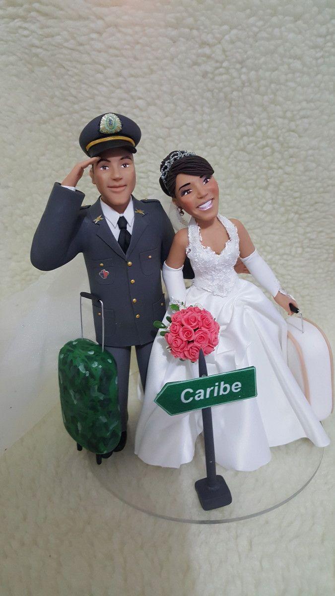 Noivinho com Farda Militar VI | Rosana Cavalcante Biscuit. | Elo7