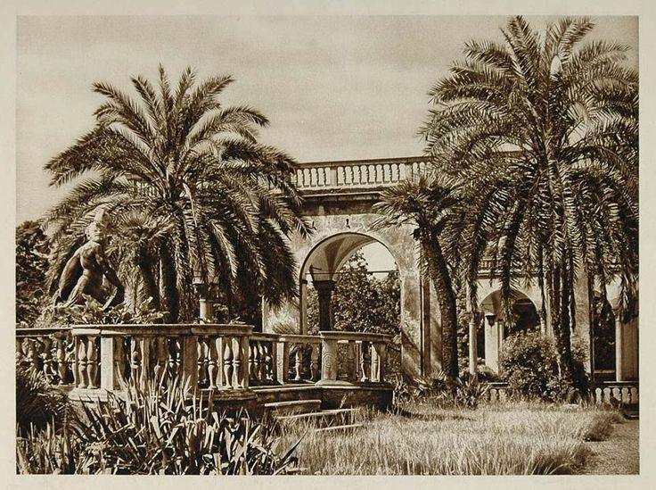 1925 Garden Palazzo Doria Genoa Genova Genua Italy - ORIGINAL ITALY3
