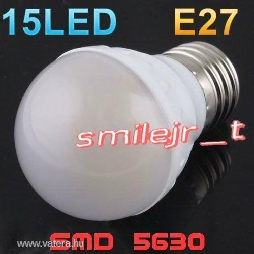 LED izzó E27 4,3W hidegfehér High Bright smd5630 - 700 Ft - Nézd meg Te is Vaterán - Izzó, led, égő - http://www.vatera.hu/item/view/?cod=1808535182