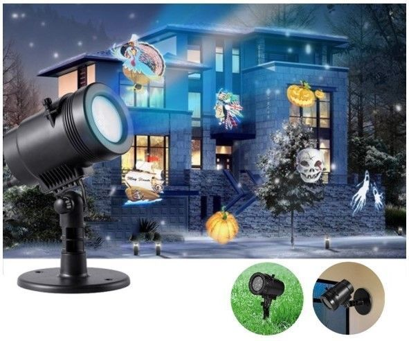 Outdoor Christmas Light Show Indoor Halloween Projector Holiday Party Decoration #OutdoorChristmasLightShow
