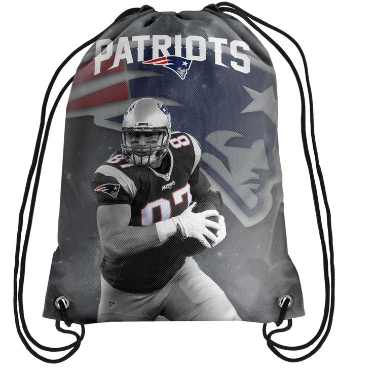 New England Patriots Gronkowski R. #87 Player Printed NFL Drawstring Backpack
