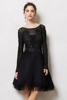 Sheer black cocktail dress. I love this as a holiday dress.