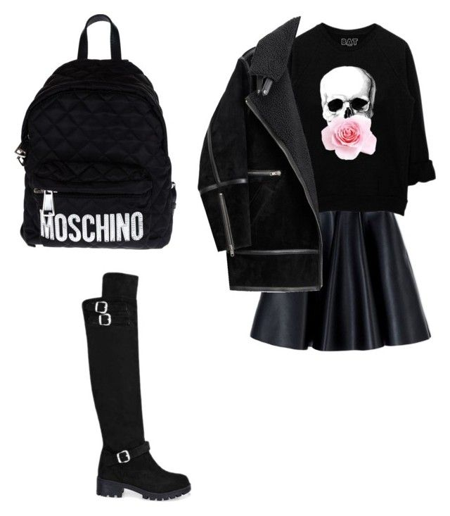 """""""h.k"""" by hanika15 on Polyvore featuring MSGM, Moschino, H&M, women's clothing, women's fashion, women, female, woman, misses and juniors"""