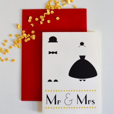 Mr & Mrs Classic Paper goods from #Schwarzie