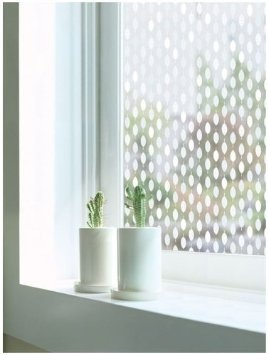 Privacy window film for the bathroom