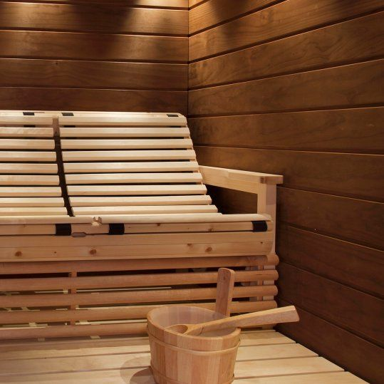 In this sauna everyone can sit and relax