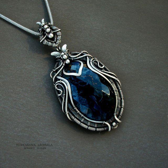 серебряный кулон с петерситом  #silver #pendant #stone #rare #vintage #handmade #artnuvo #atrdeko